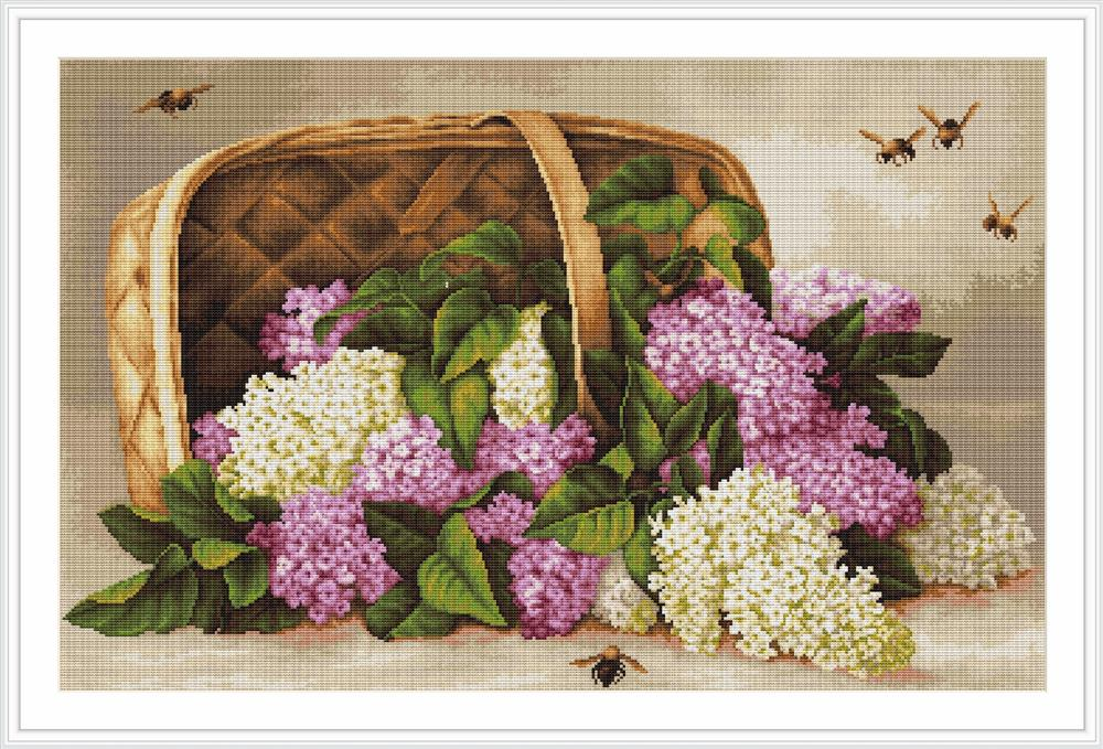 Basket of Lilacs - Petit Point -  Tapestry Kit
