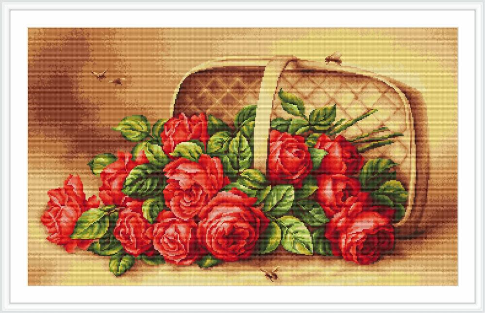 Basket with Roses - Petit Point -  Tapestry Kit