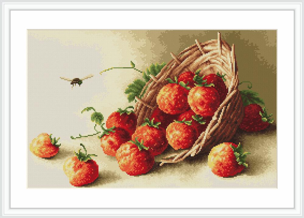 Basket of Strawberries - Petit Point -  Tapestry Kit