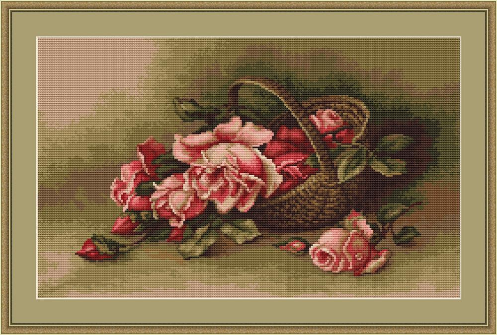 Basket of Roses - Petit Point -  Tapestry Kit