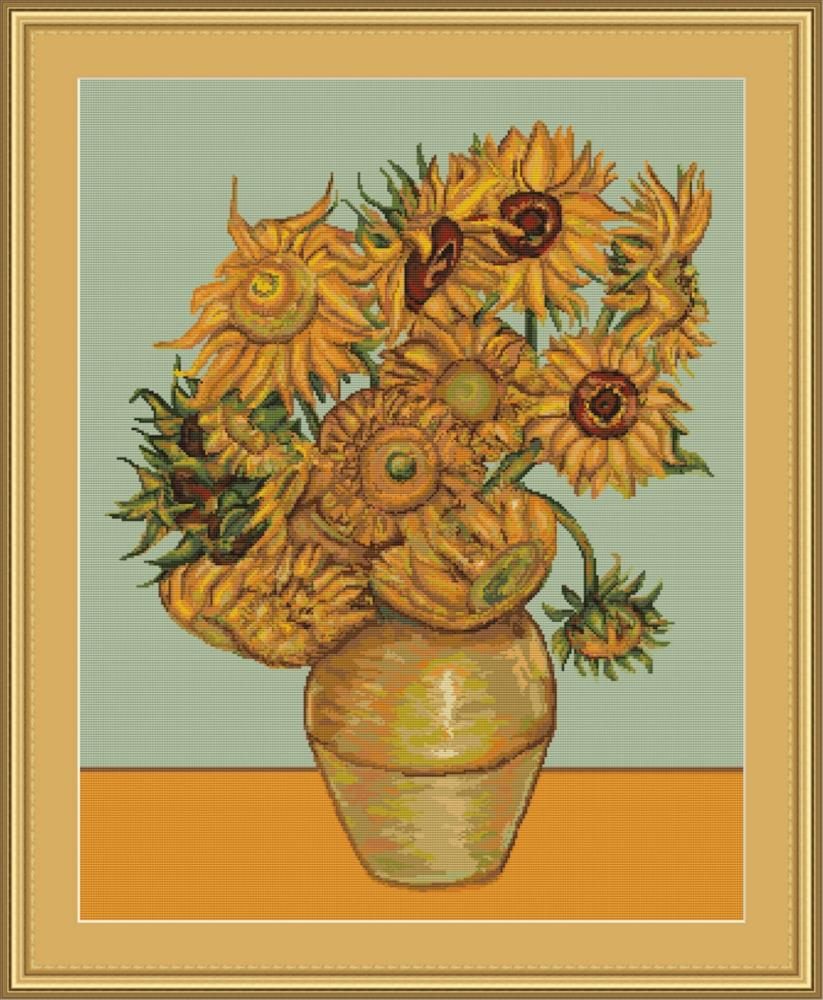 Sunflowers - Petit Point -  Tapestry Kit