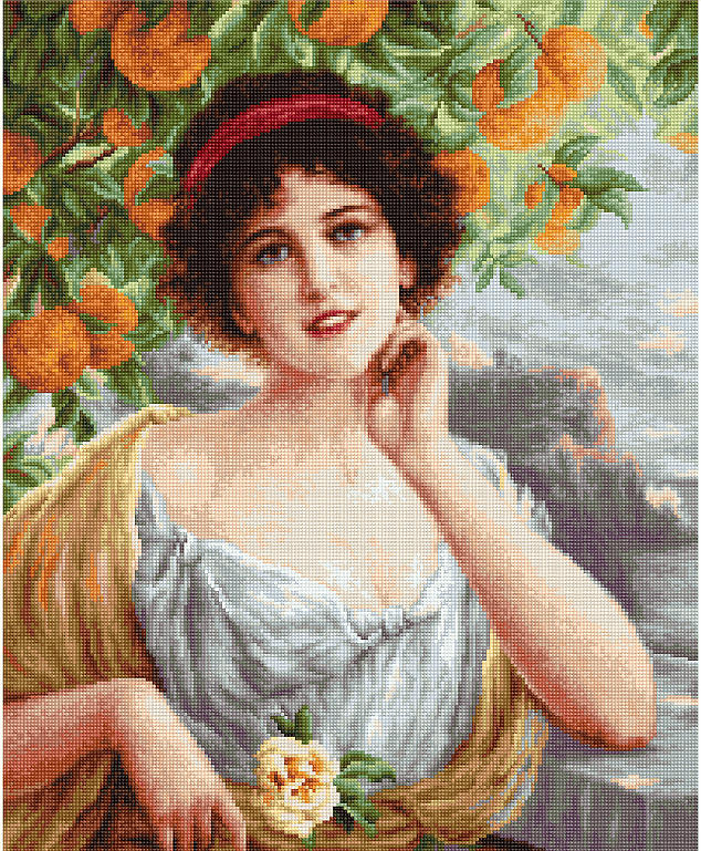 Beauty Under the Orange Tree - Petit Point -  Tapestry Kit