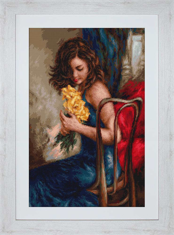 Yellow Roses - Petit Point -  Tapestry Kit