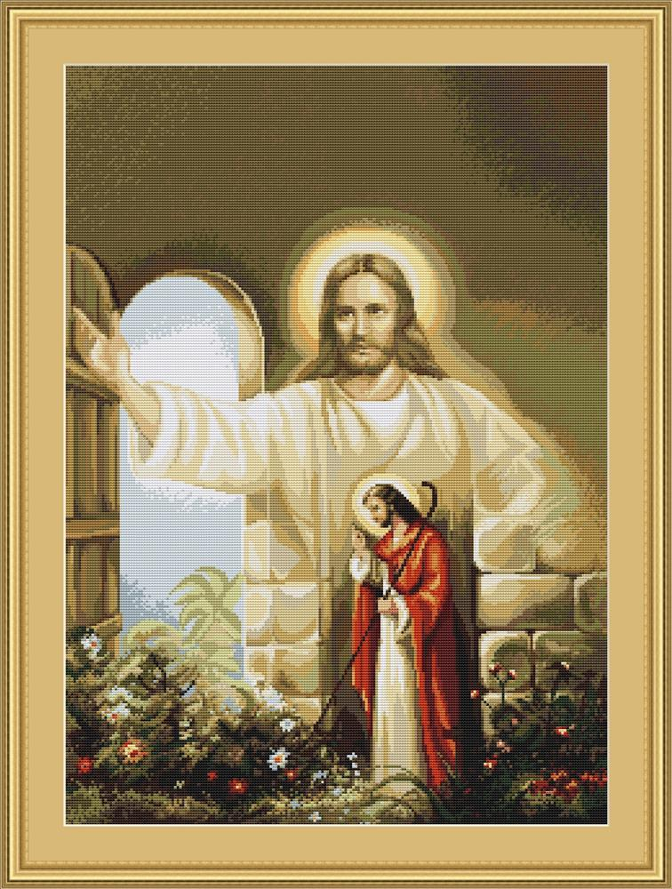 Luca-S Christ at Hearts Door - Petit Point Tapestry Kit