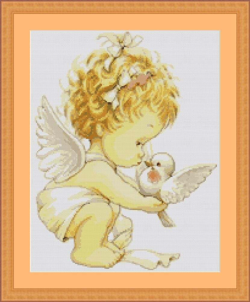 Angel with Dove - Petit Point -  Tapestry Kit