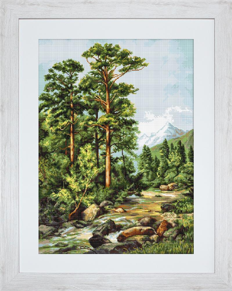 Luca-S Mountain River - Petit Point Tapestry Kit