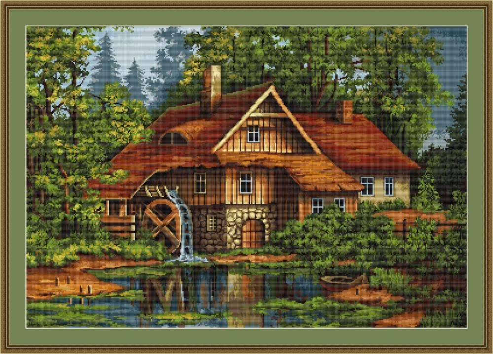 Old House in the Forest - Petit Point -  Tapestry Kit
