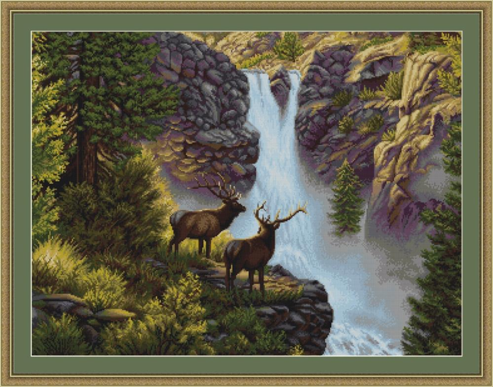 Waterfall - Petit Point -  Tapestry Kit