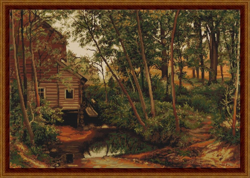 Cabin in Woods - Petit Point -  Tapestry Kit