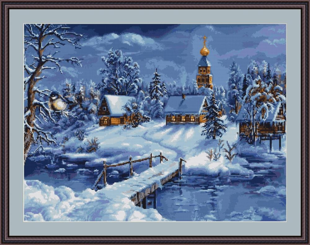 Luca-S Winters Landscape - Petit Point Tapestry Kit