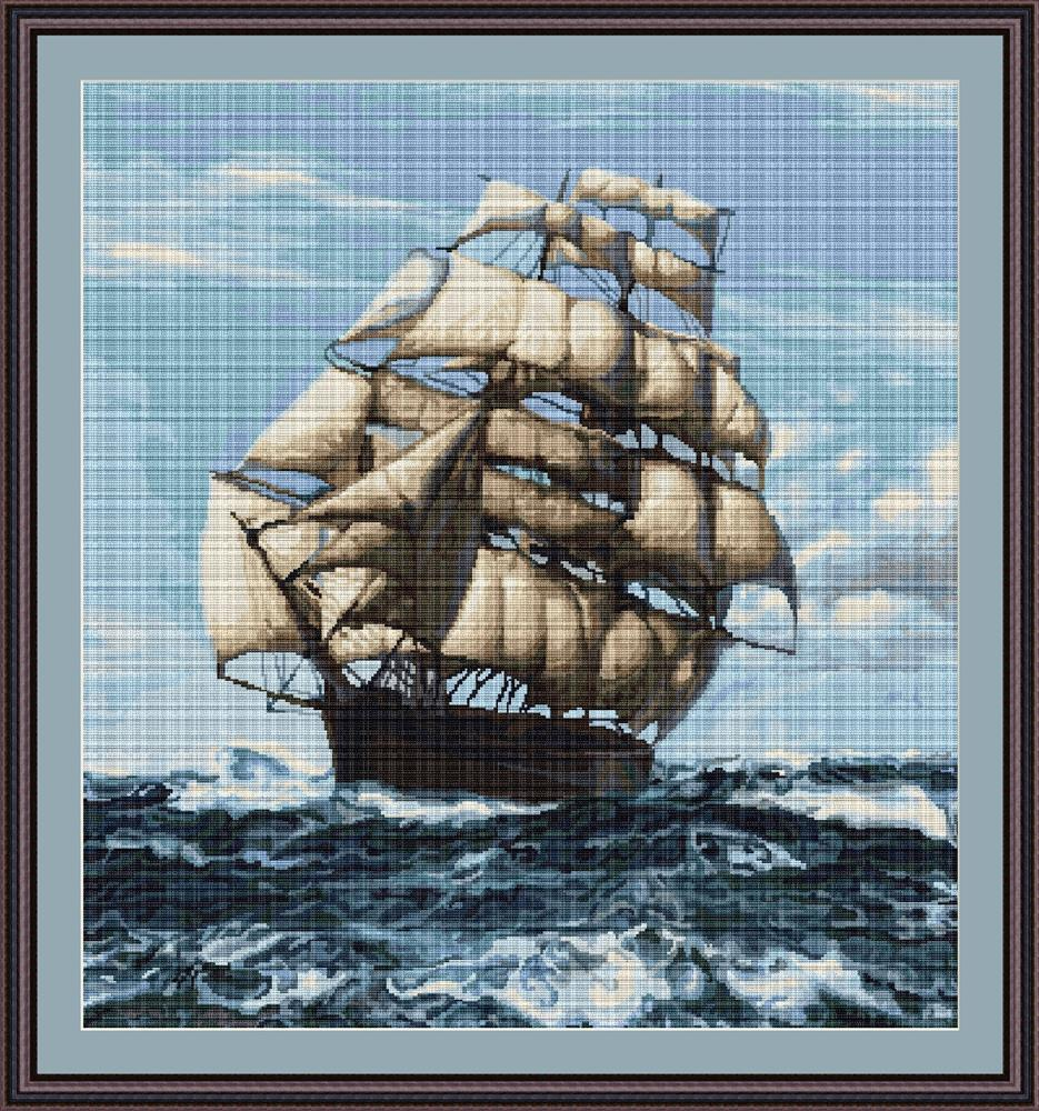 Luca-S Tall Ship II - Petit Point Tapestry Kit