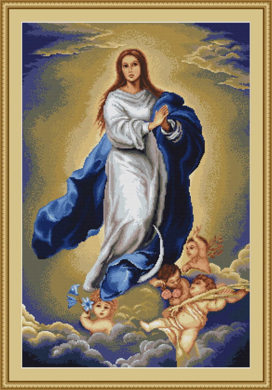 Luca-S Immaculate Conception Cross Stitch Kit