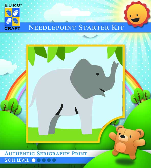 Trumpeting Elephant -  Tapestry Kit