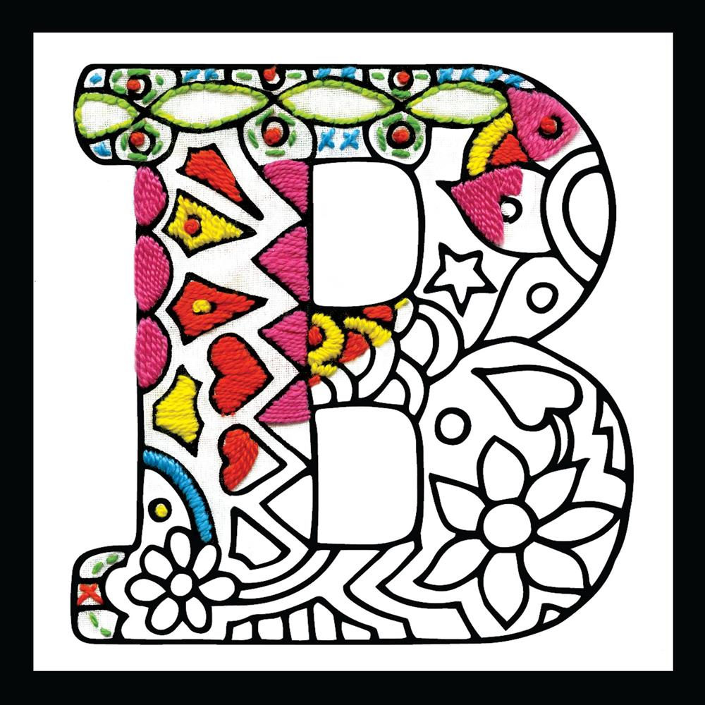 Design Works Crafts Zenbroidery - Letter B Embroidery Fabric