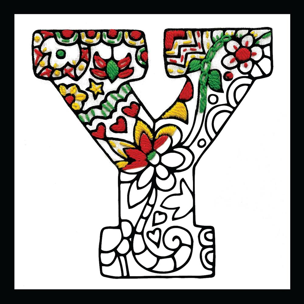 Design Works Crafts Zenbroidery - Letter Y Embroidery Fabric