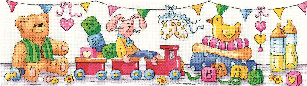 Heritage New Baby - Evenweave Birth Sampler Cross Stitch Kit