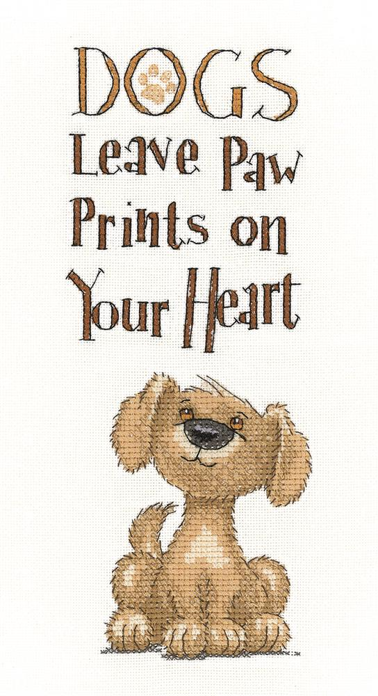 Heritage Paw Prints - Evenweave Cross Stitch Kit