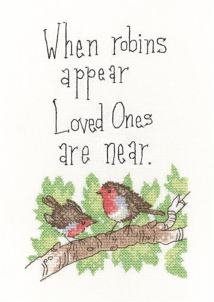Heritage When Robins Appear - Evenweave Cross Stitch Kit