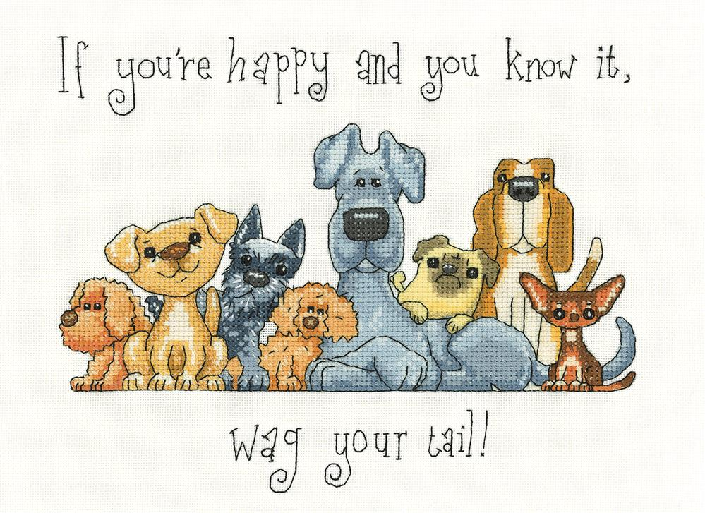 Heritage Wag Your Tail - Evenweave Cross Stitch Kit