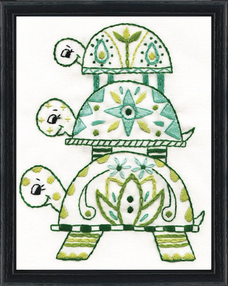Design Works Crafts Turtle Pile Embroidery Kit