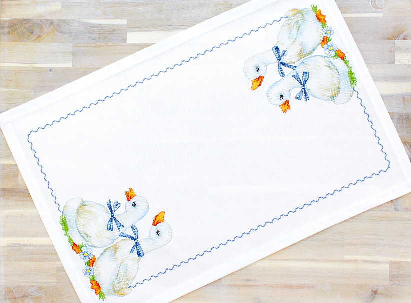 Luca-S Geese Table Topper Cross Stitch Kit