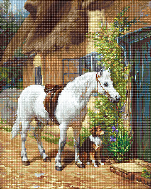 By the Cottage Petit Point -  Tapestry Kit