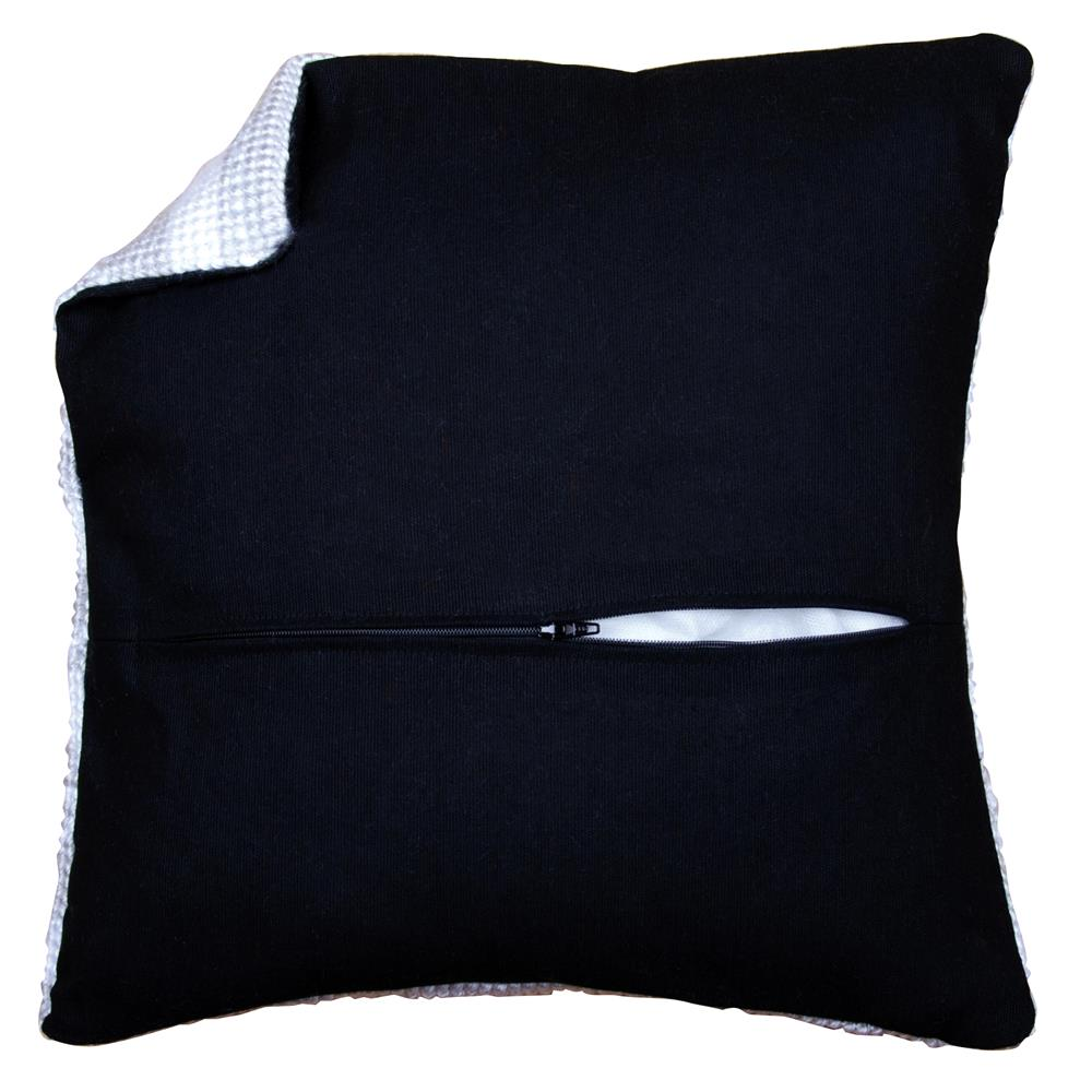Vervaco Cushion Back with Zipper - Black