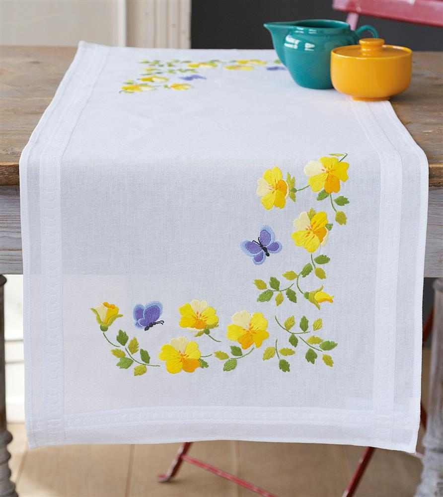 Spring Flowers Table Runner -  Embroidery Kit