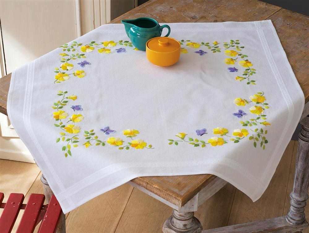 Spring Flowers Tablecloth -  Embroidery Kit
