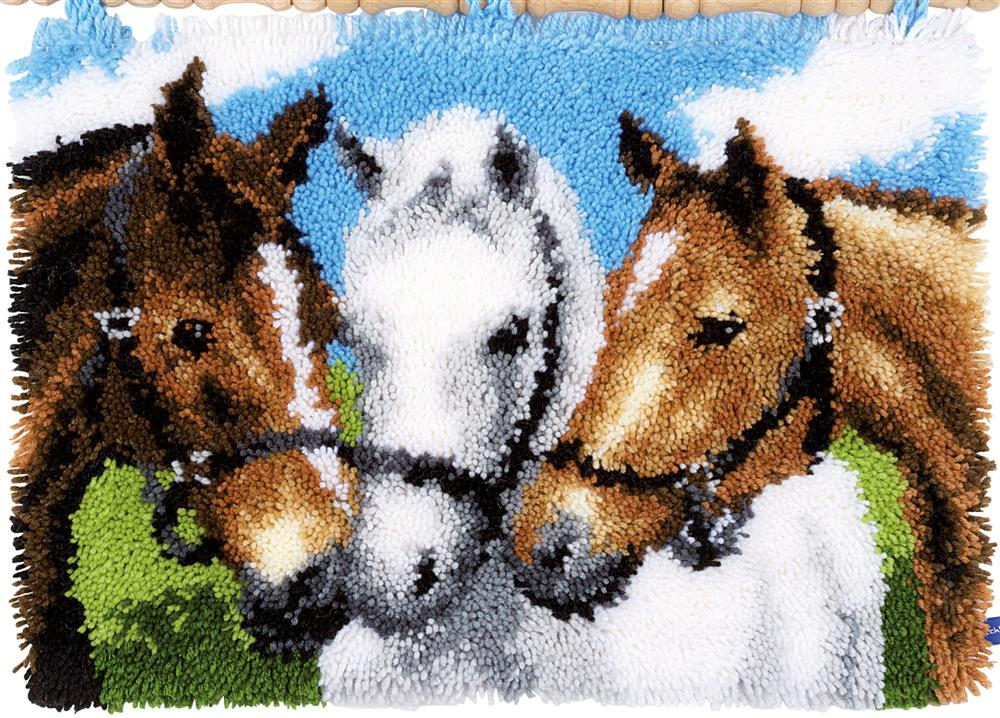 Horses -  Latch Hook Rug Kit