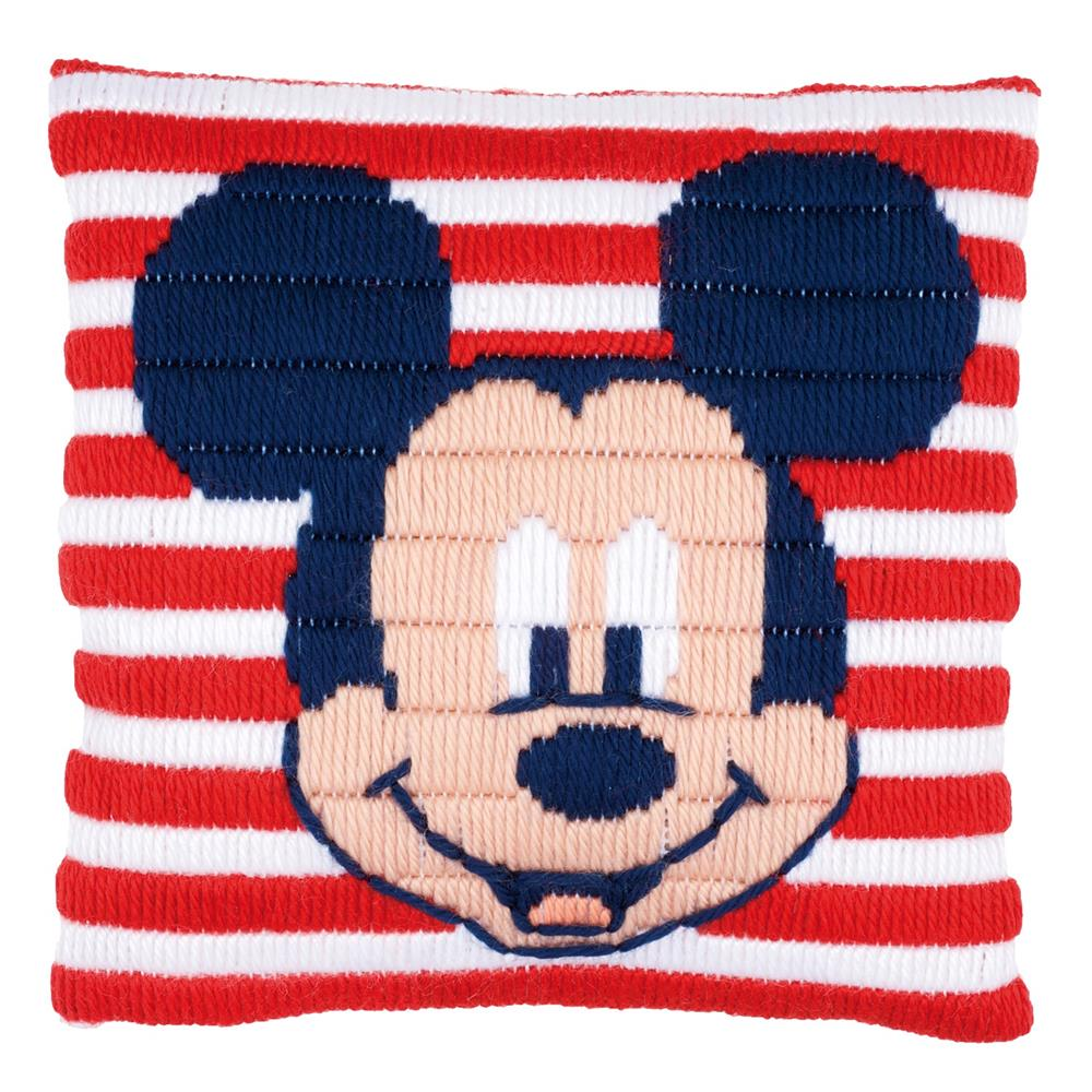 Vervaco Mickey Mouse Cushion Long Stitch Kit