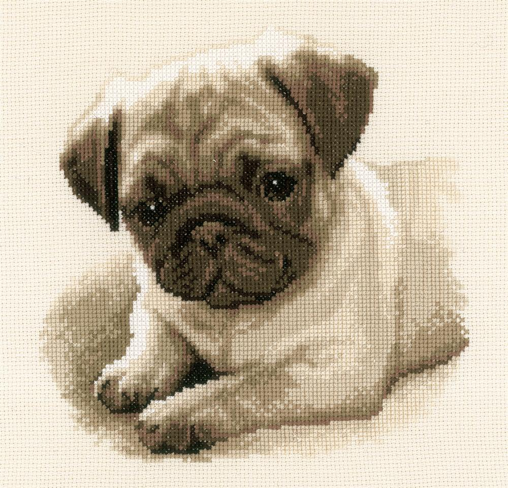 Vervaco Pug Dog Cross Stitch Kit
