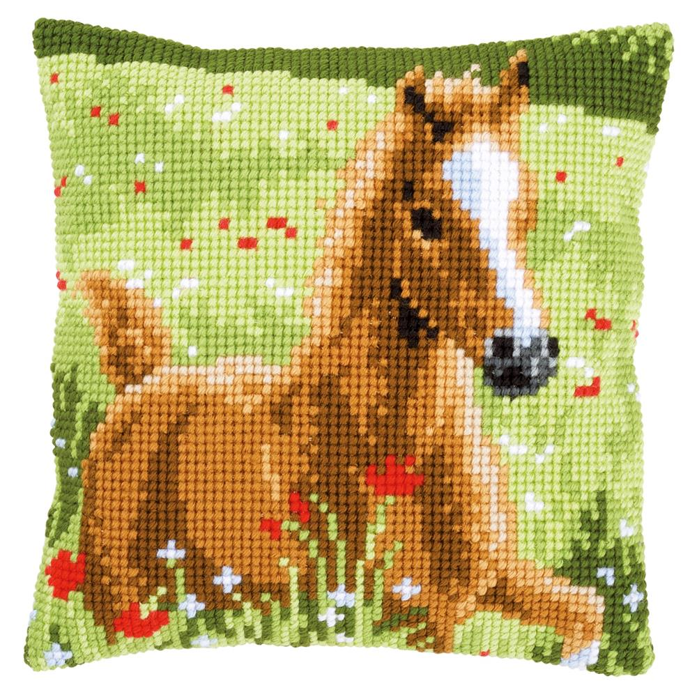 Vervaco Foal Cushion Cross Stitch Kit