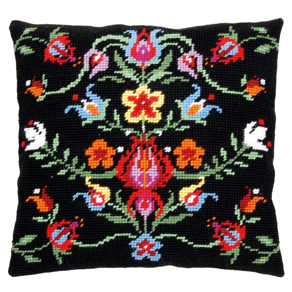 Vervaco Folklore Cushion II Tapestry Kit