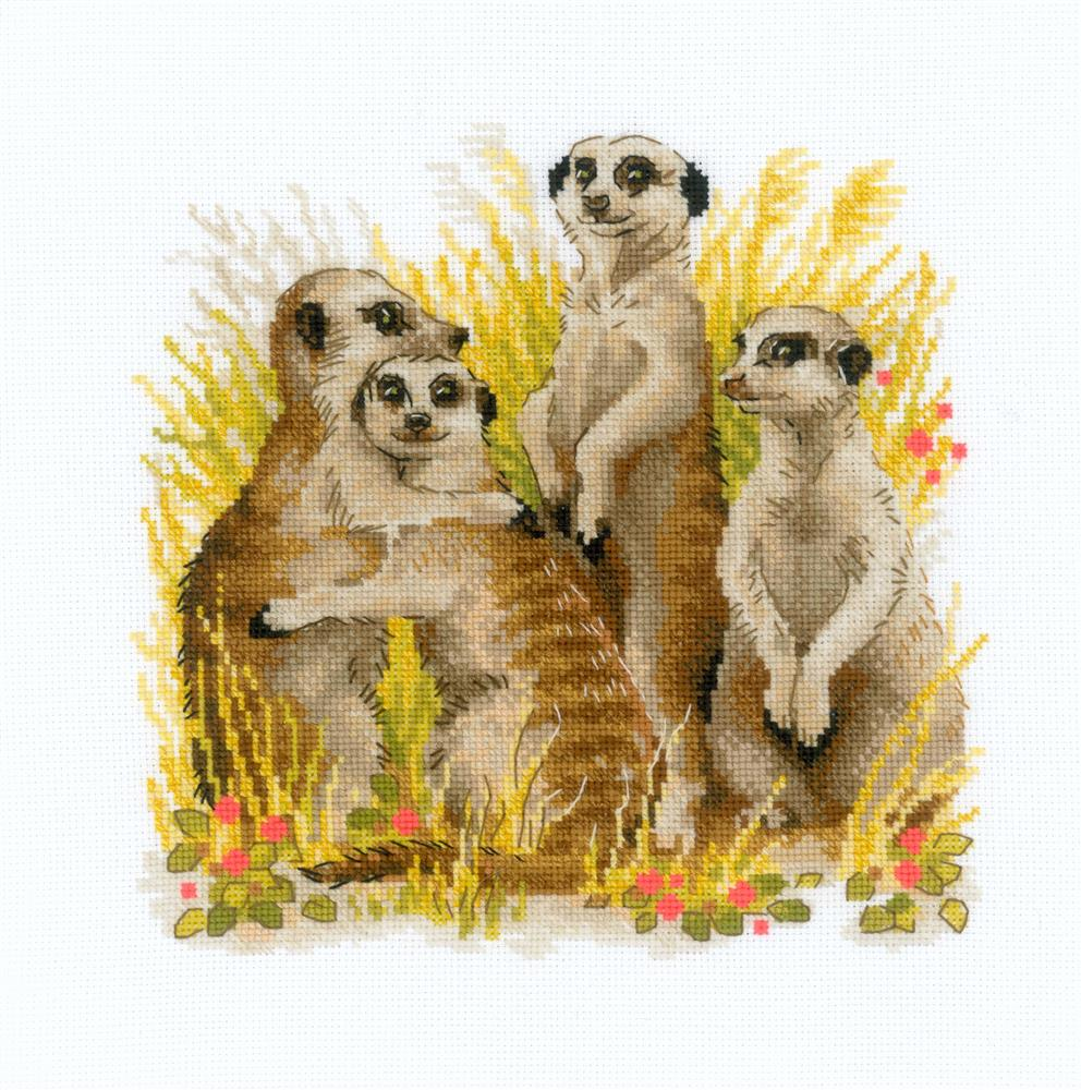 RIOLIS Meerkats Cross Stitch Kit