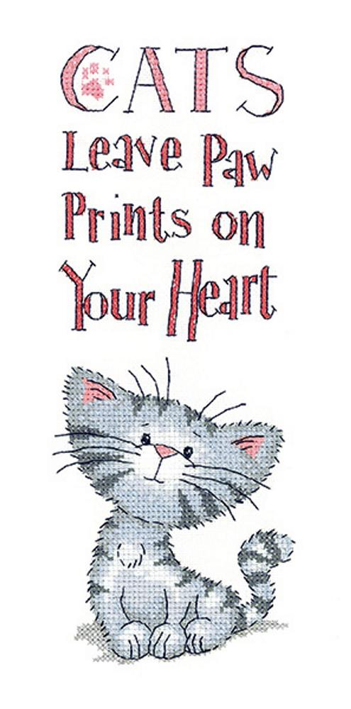 Cats Paw Prints - Aida -  Cross Stitch Kit