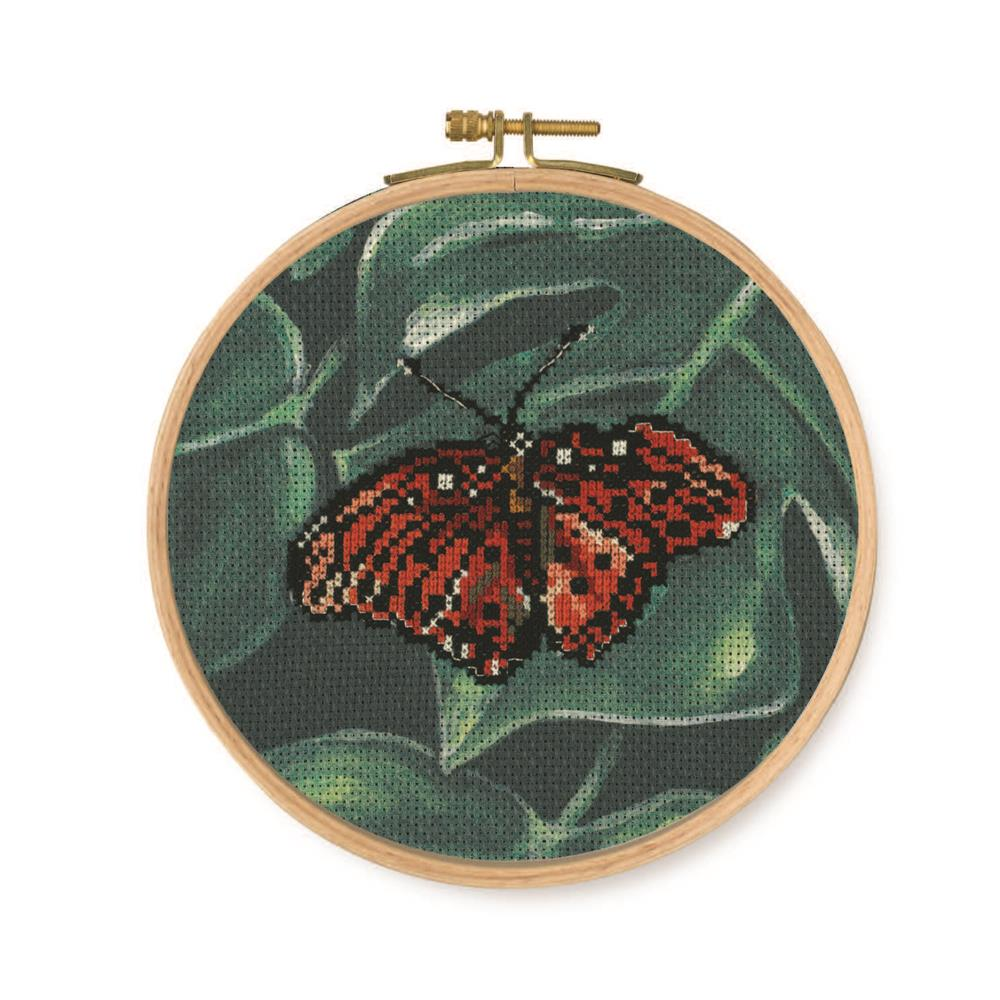 Red Butterfly -  Cross Stitch Kit