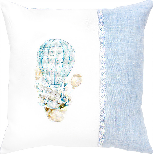 Luca-S Bunny Balloon Pillow Cross Stitch Kit