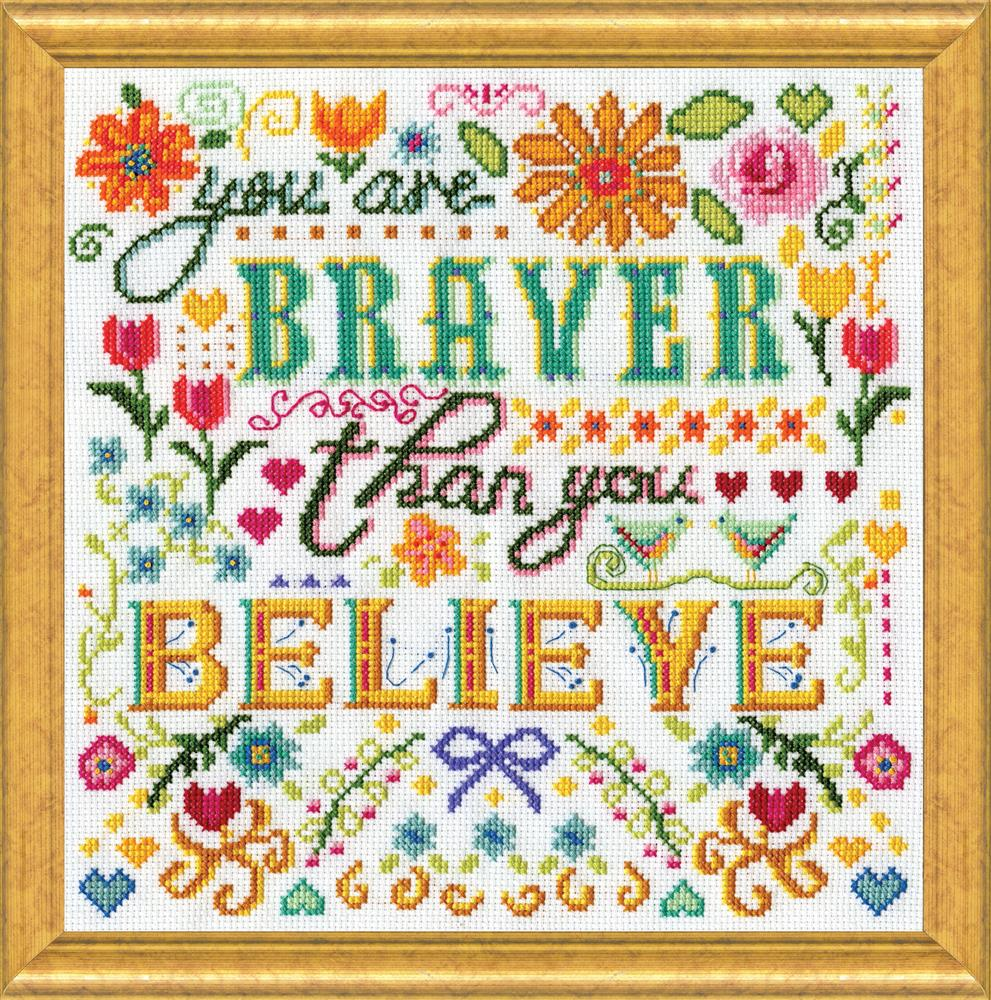 Design Works Crafts Braver Cross Stitch Kit