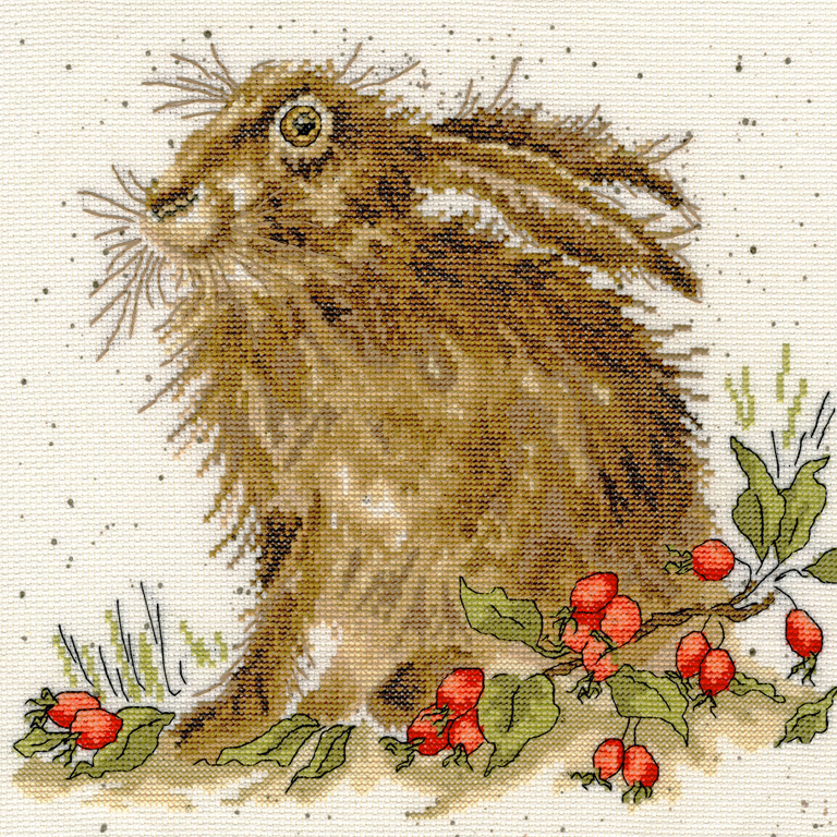 Bothy Threads Hippy Hare Cross Stitch Kit