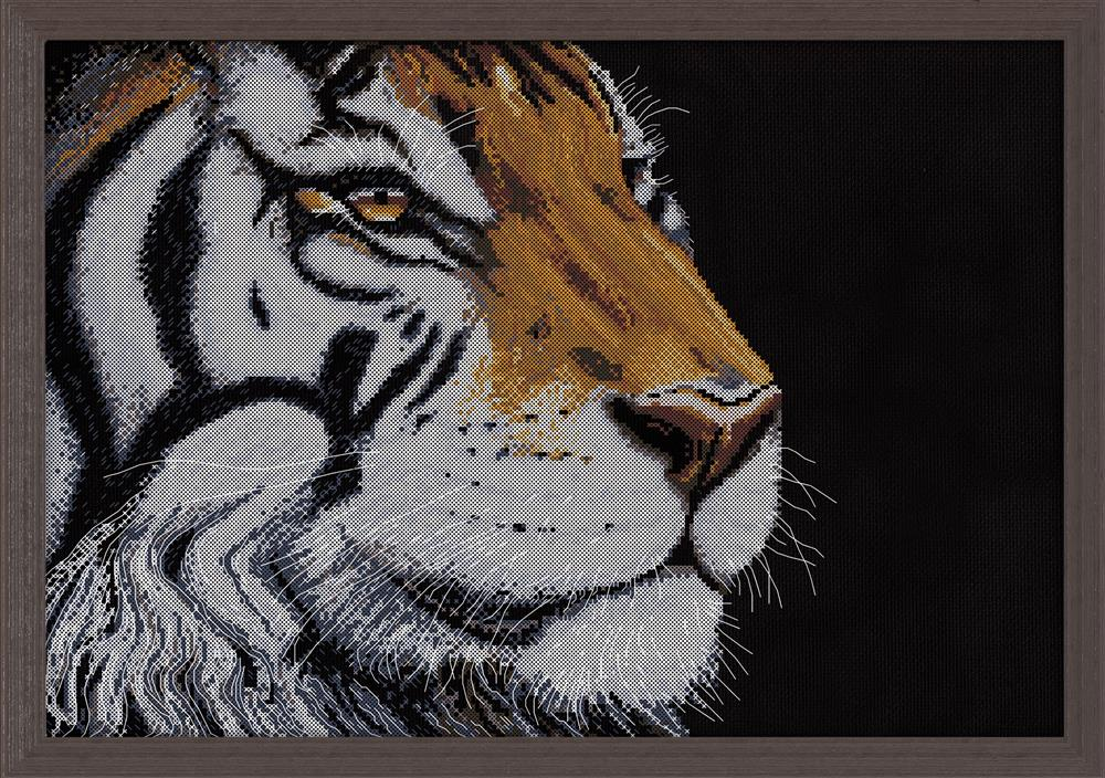 Design Works Crafts Orange Tiger Cross Stitch Kit