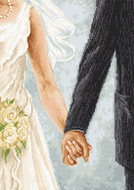 Luca-S Together Wedding Sampler Cross Stitch Kit
