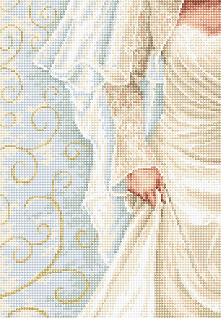 Luca-S The Bride Wedding Sampler Cross Stitch Kit
