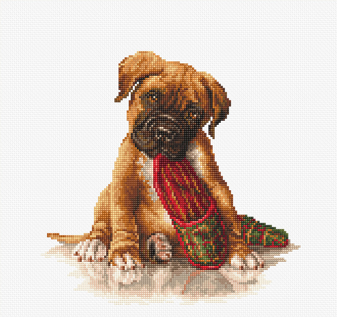 The Boxer -  Cross Stitch Kit