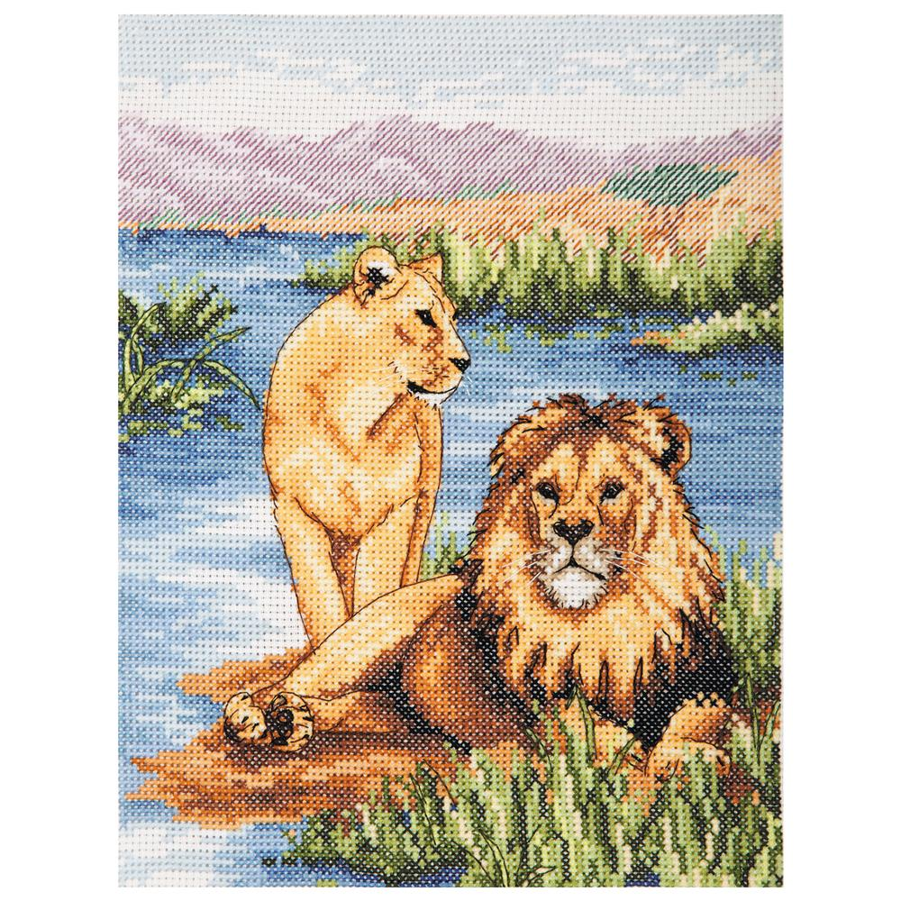 Anchor Lions Cross Stitch Kit