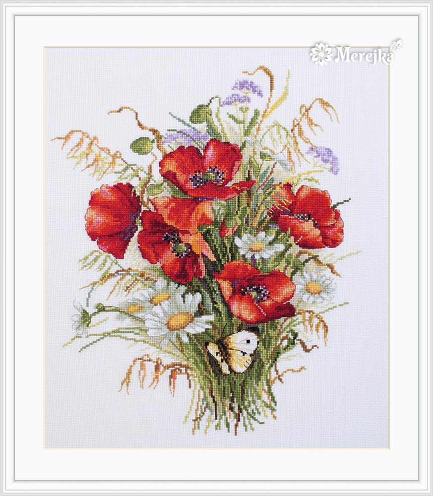 Poppies and Oats -  Cross Stitch Kit