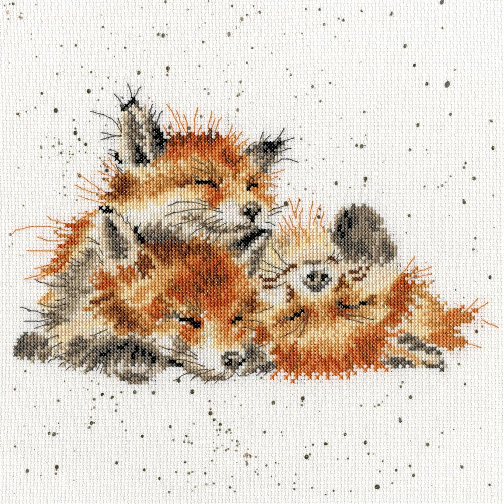 Bothy Threads Afternoon Nap Cross Stitch Kit