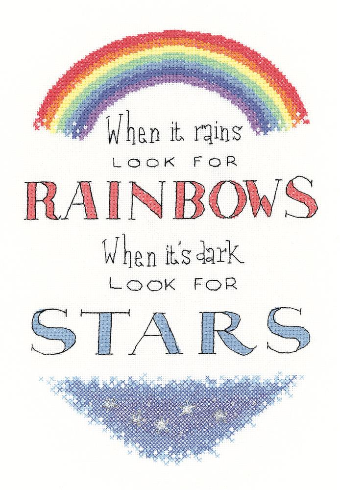 Look For Rainbows - Evenweave -  Cross Stitch Kit