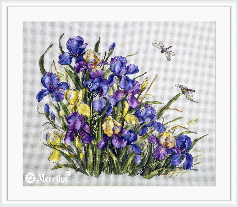 Irises -  Cross Stitch Kit