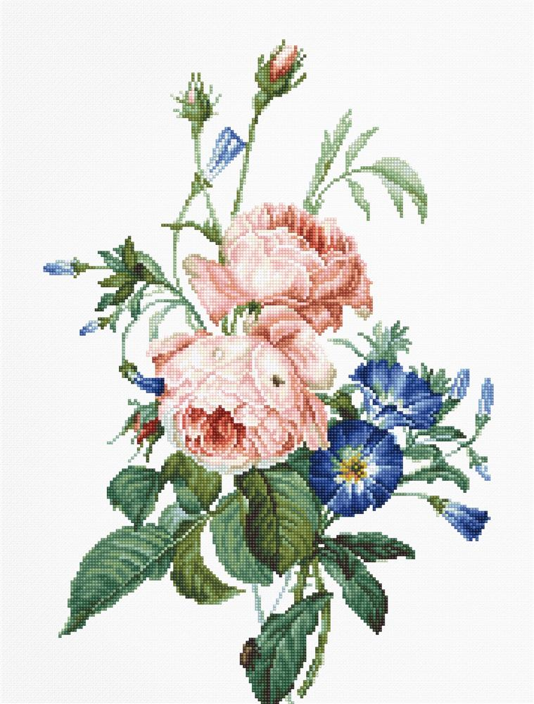 Bouquet with Roses -  Cross Stitch Kit